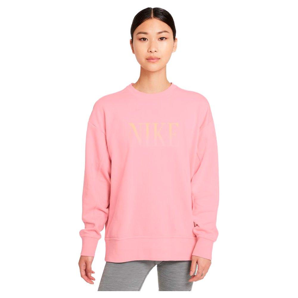 Nike Sweatshirt Dri Fit Get Fit Graphic M Pink Glaze / Melon Tint / White