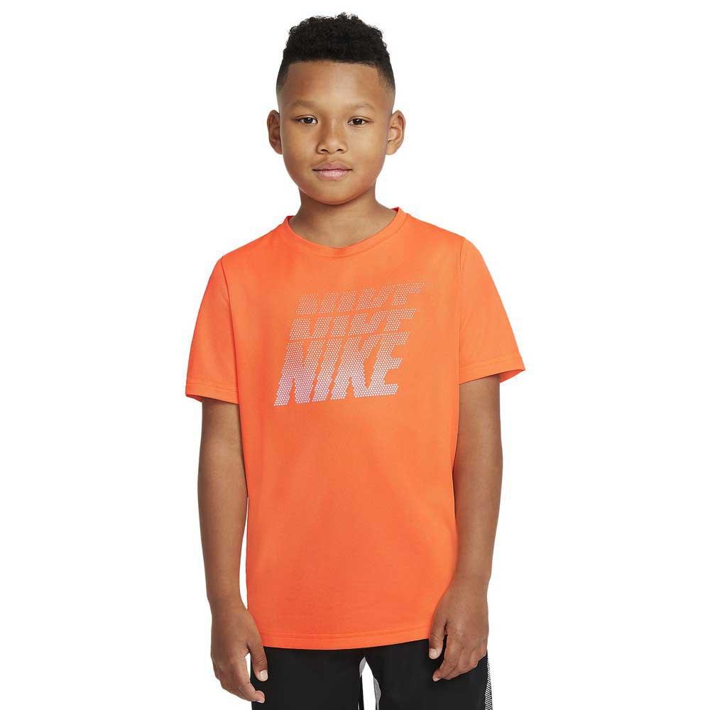 Nike T-shirt Manche Courte Dri Fit Graphic M Total Orange / Crimson Bliss / Photon Dust
