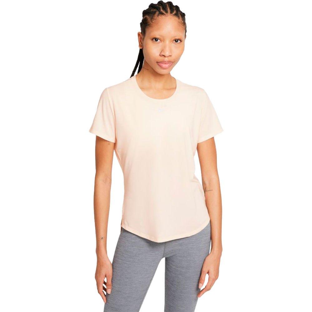 Nike T-shirt Manche Courte Dri Fit One Luxe L Guava Ice / Reflective Silver