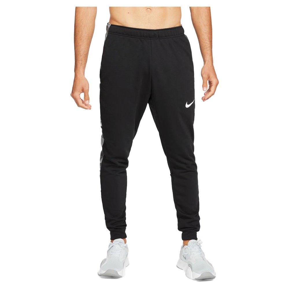 Nike Pantalons Dri Fit Tapered Camo S Black / White