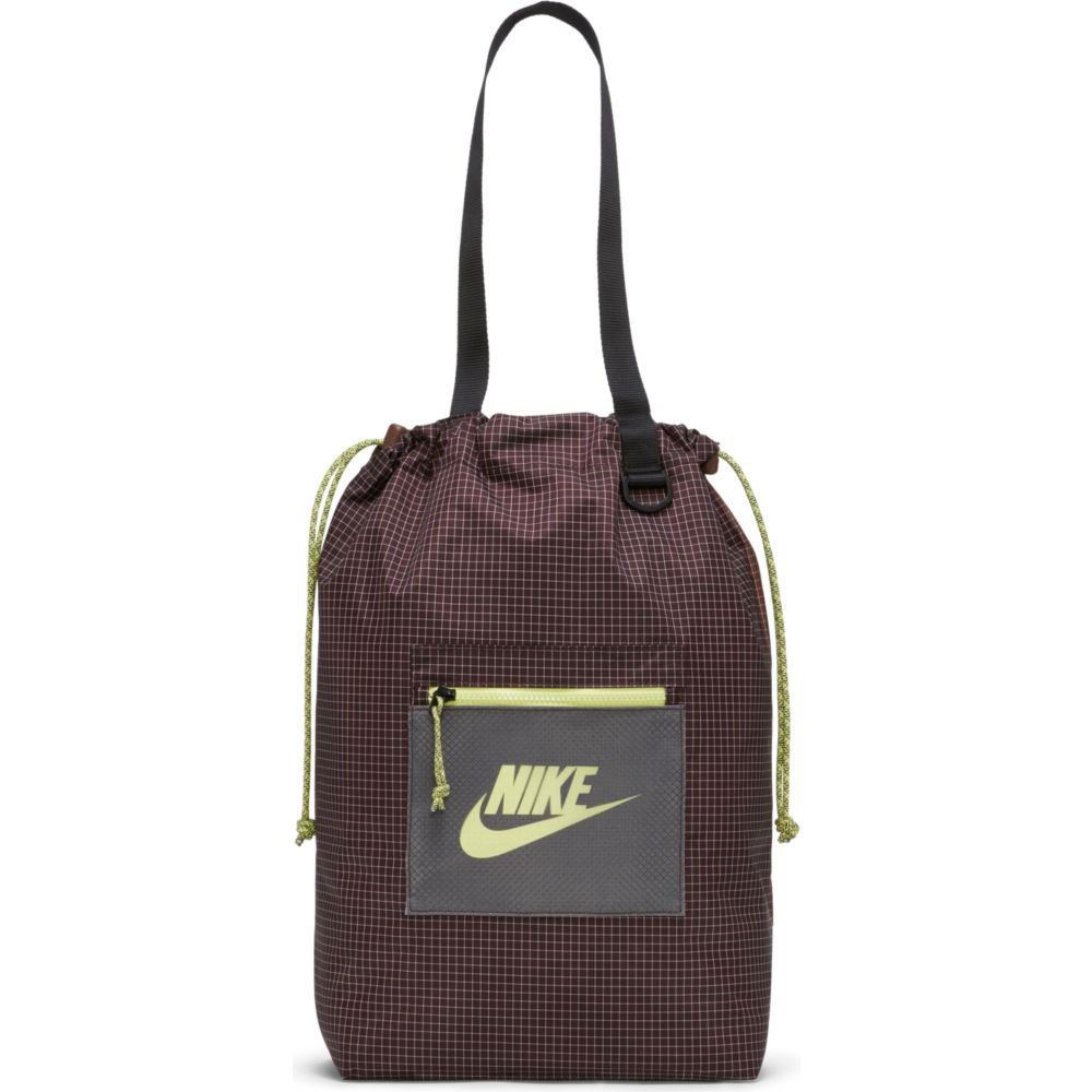 Nike Sac Tote Heritage One Size Brown Basalt / Lt Chocolate / Lt Lemon Twist
