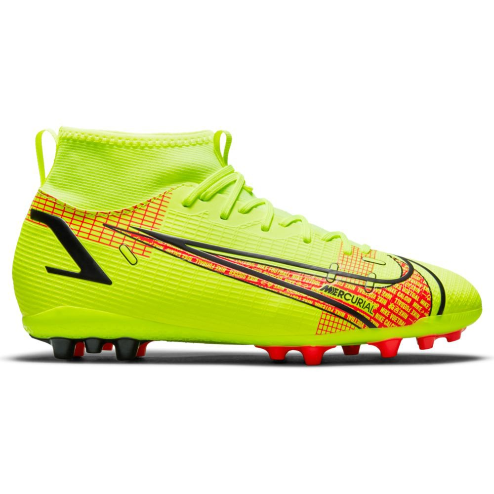 Nike Chaussures Football Mercurial Superfly Viii Academy Ag EU 38 Volt / Black-Bright Crimson