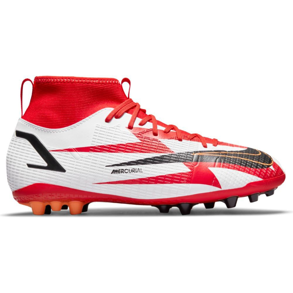 Nike Chaussures Football Mercurial Superfly Viii Academy Cr7 Ag EU 33 Chile Red / Black-White-Total Orange