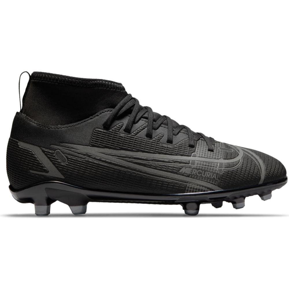 Nike Chaussures Football Mercurial Vapor Superfly Viii Club Fg/mg EU 33 Black / Black-Iron Grey