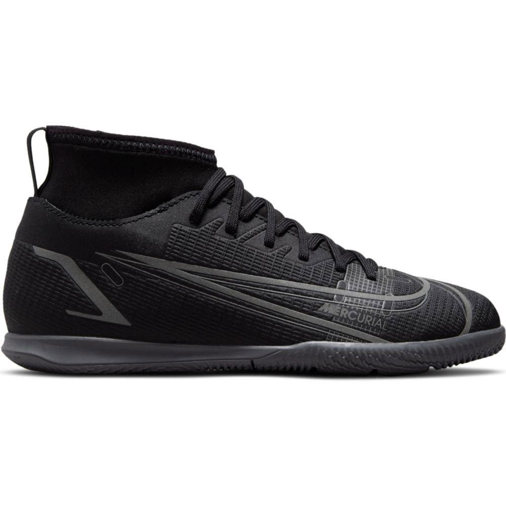 Nike Chaussures Football Mercurial Vapor Superfly Viii Club Ic EU 33 Black / Black-Iron Grey