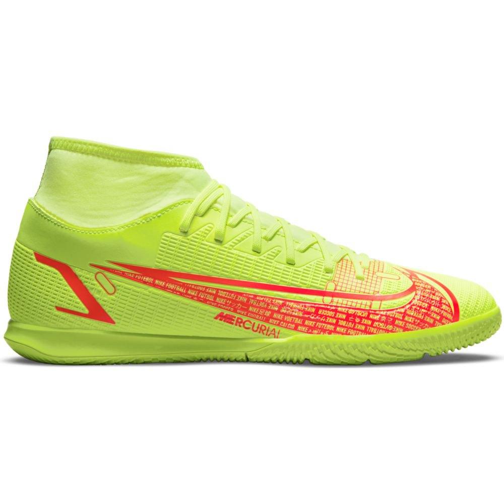 Nike Chaussures Football Mercurial Superfly Viii Club Ic EU 42 1/2 Volt / Black-Bright Crimson