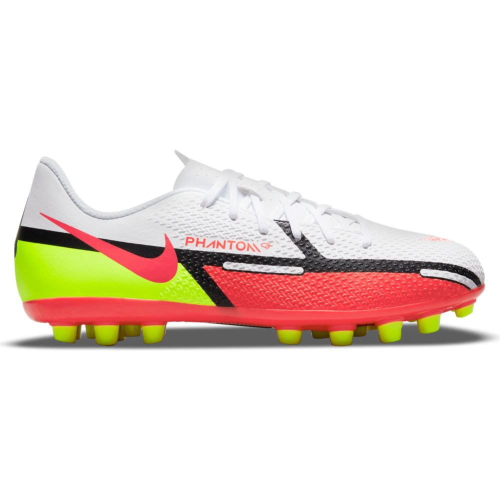 Nike Chaussures Football Phantom Gt2 Academy Ag EU 33 White / Bright Crimson-Volt