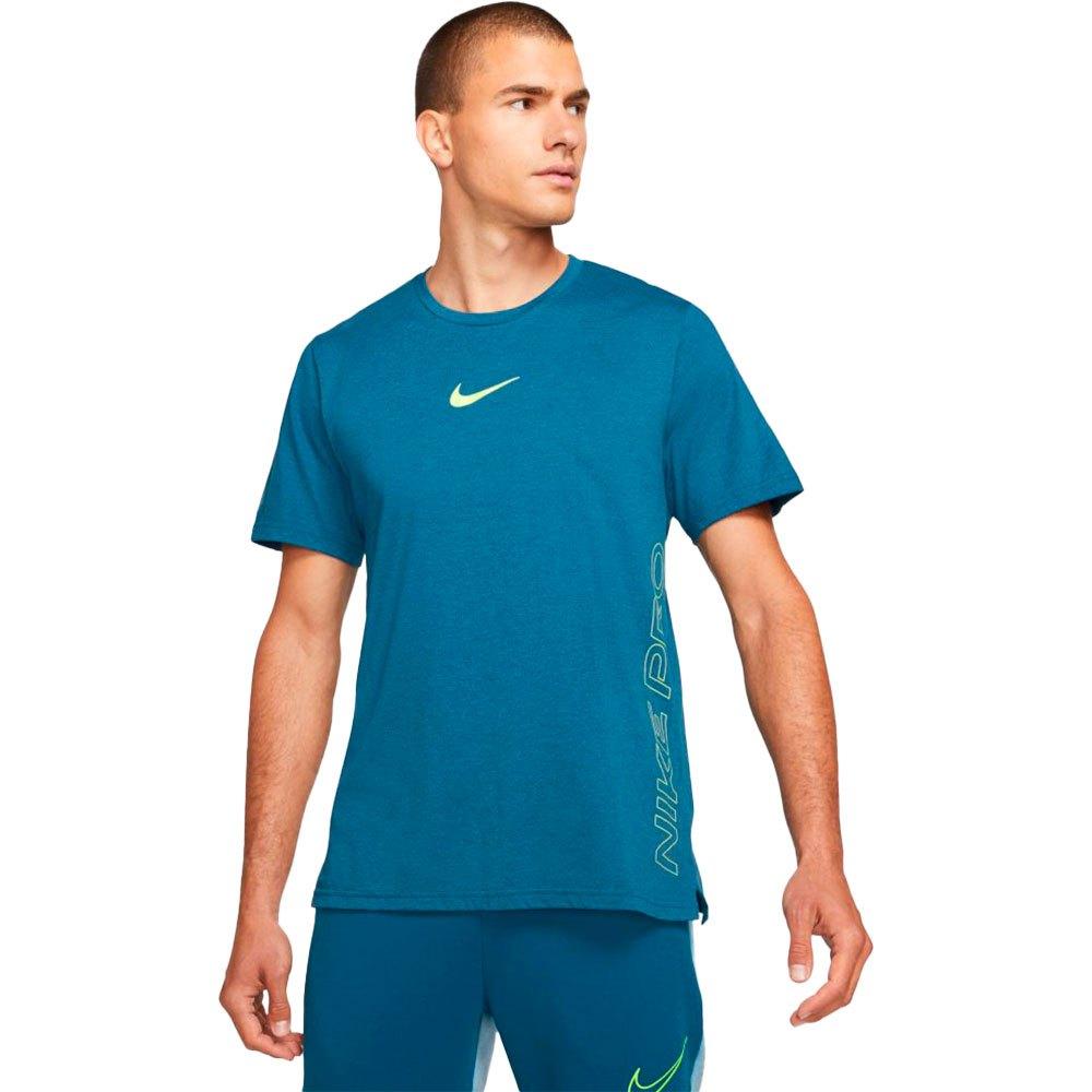 Nike T-shirt Manche Courte Pro Dri Fit Burnout XXL Court Blue / Dutch Blue / Volt