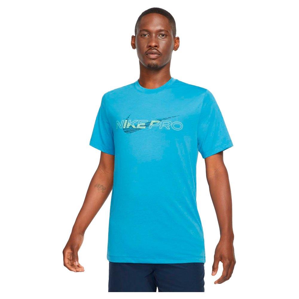 Nike T-shirt Manche Courte Pro Dri Fit Graphic XS Dutch Blue