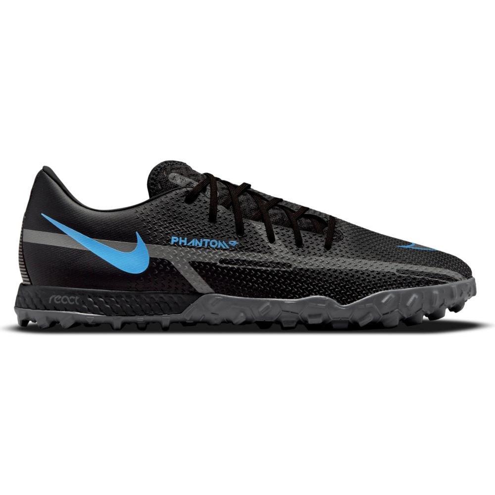 Nike Chaussures Football React Phantom Gt2 Pro Tf EU 38 1/2 Black / Black-Iron Grey