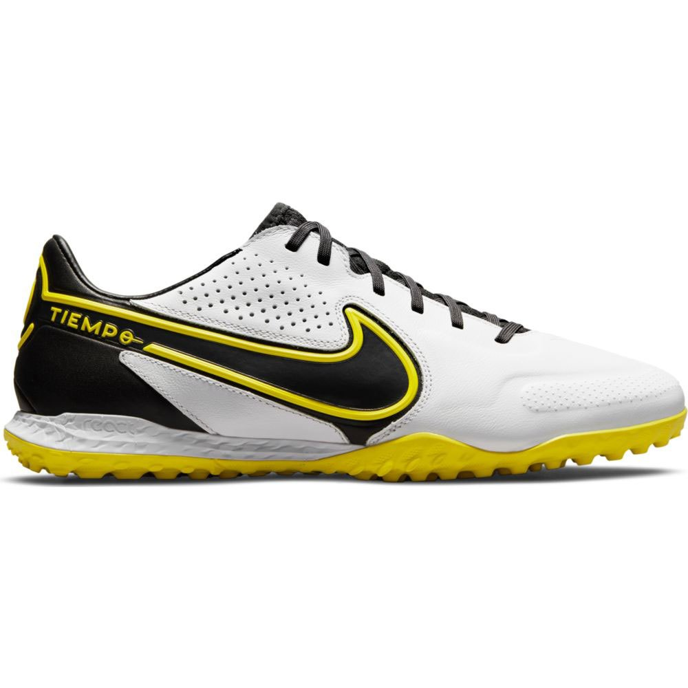 Nike Chaussures Football React Tiempo Legend Ix Pro Tf EU 40 White / Dk Smoke Grey-Black-Yellow Strike