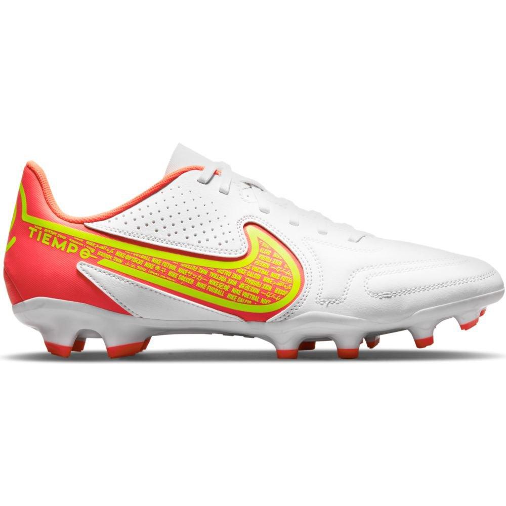 Nike Chaussures Football Tiempo Legend Ix Club Fg/mg EU 41 White / Volt-Bright Crimson