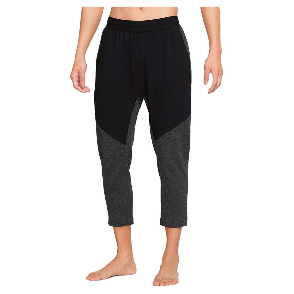Nike Pantalons Yoga Dri Fit M Black Heather / Black / Black