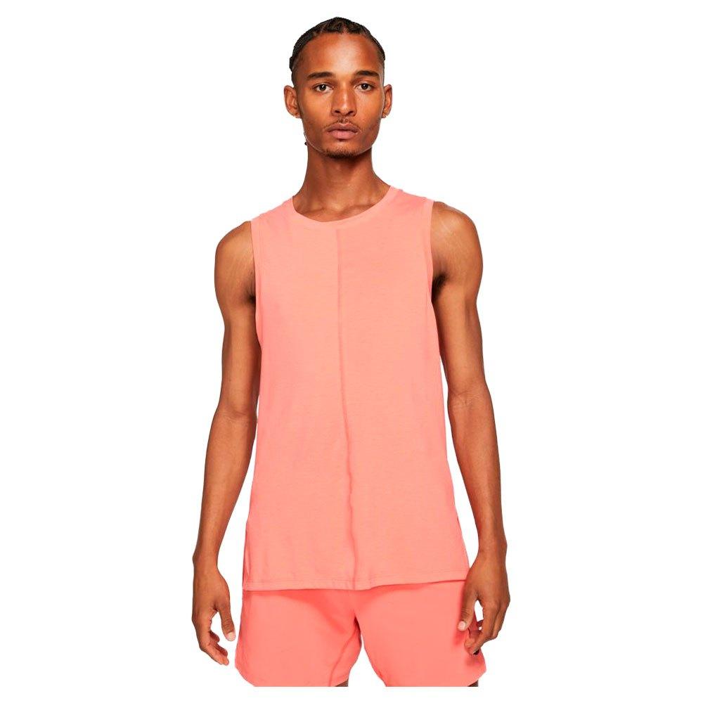 Nike T-shirt Sans Manches Yoga M Magic Ember / Crimson Bliss / Black