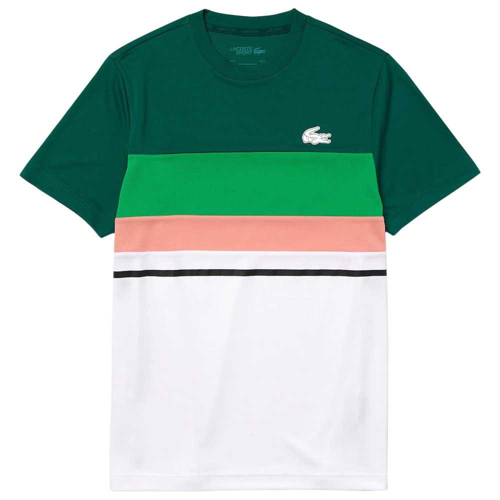 Lacoste T-shirt Garçon Sport Th6947 M Swing / White-Malachite-Elf