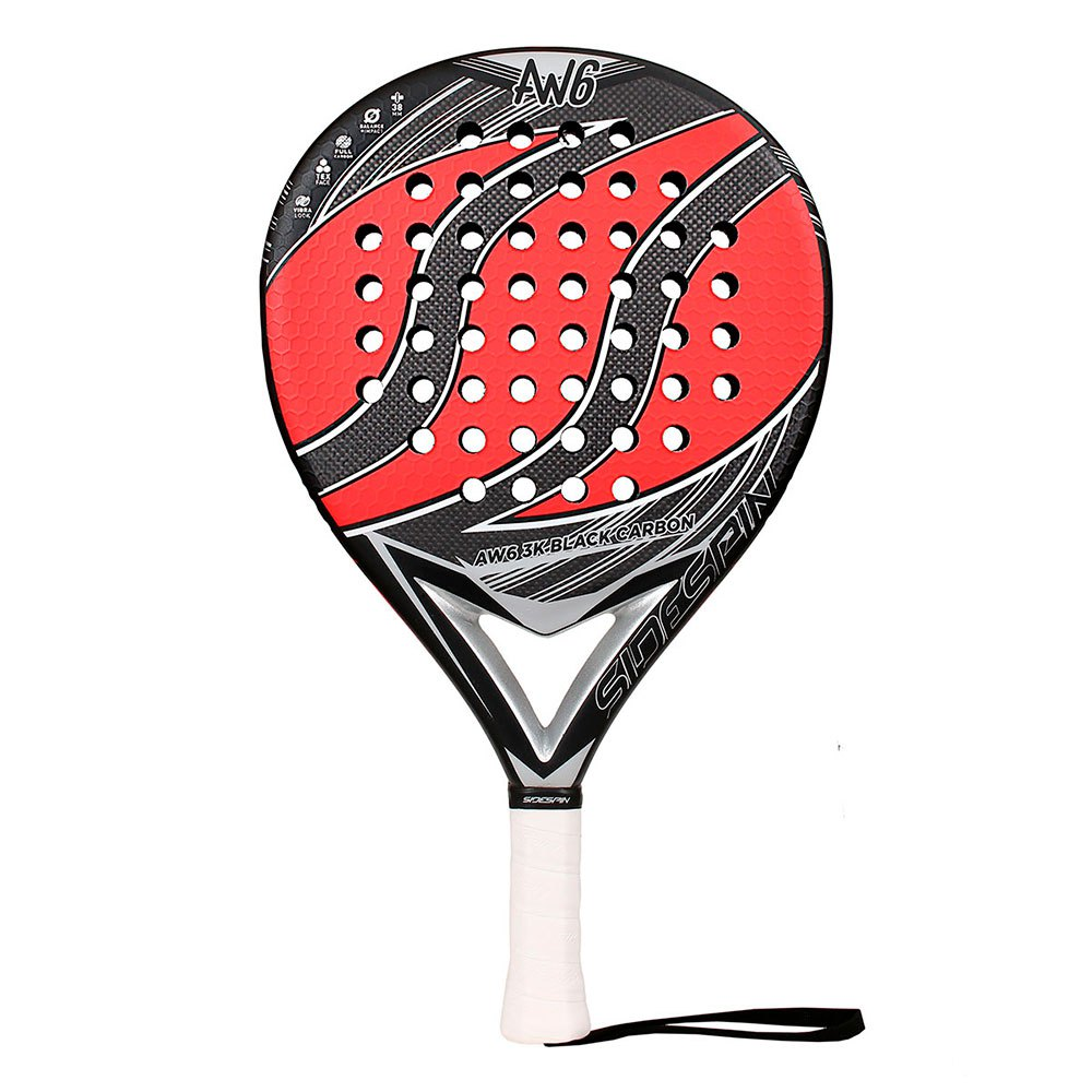 Sidespin Raquette Padel Aw6 Fct Eva Mix Text 3k One Size Black / Red
