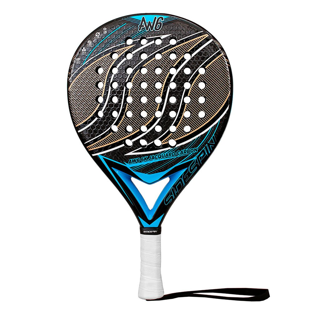 Sidespin Raquette Padel Aw6 Fct Eva Mix Text 6k One Size Blue / Jacquard Gold