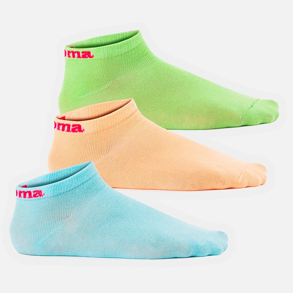 Joma Chaussettes Mood 3 Paires EU 31-34 Green / Sky Blue / Salmon