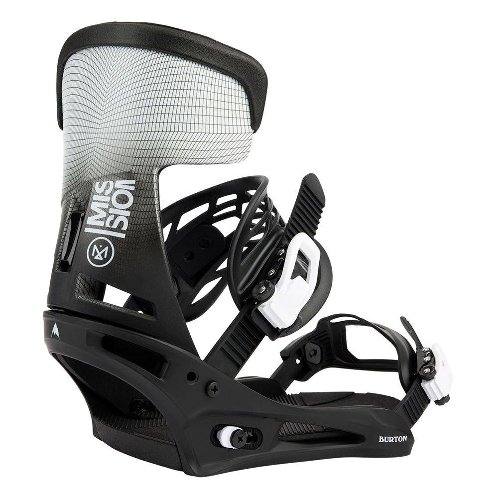 Burton Fixations Snowboard Mission M Black / White Wing