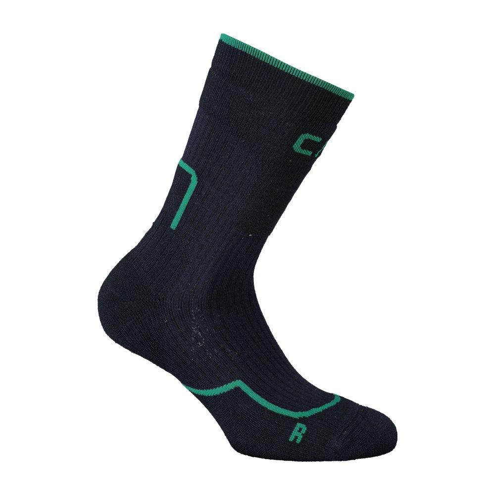 Cmp Chaussettes Trekking Wool Mid EU 31-33 B. Blue / Irish Green