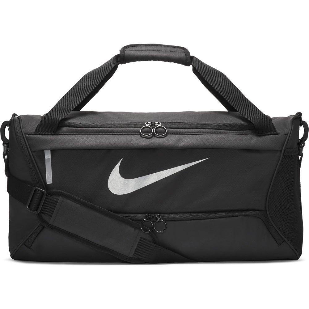Nike Sac Brasilia M One Size Black / Black / Metallic Silver