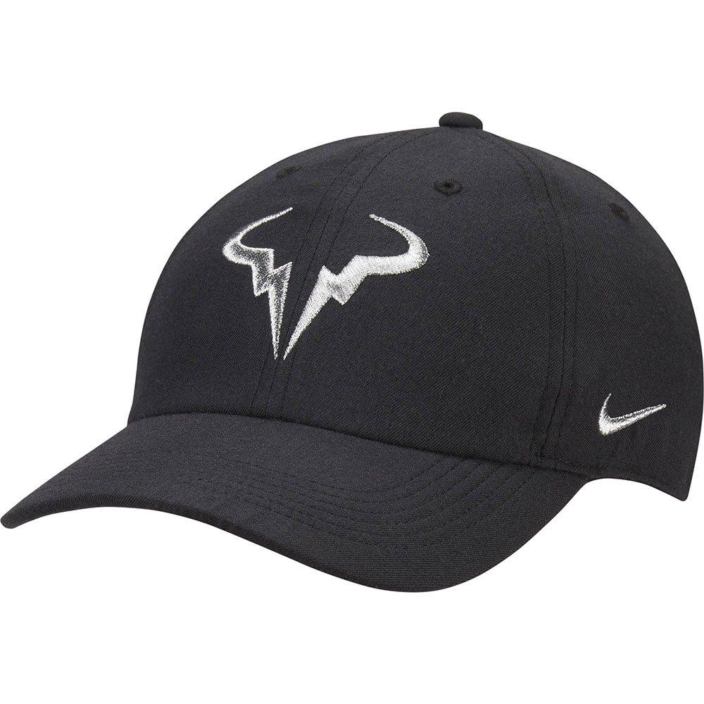 Nike Casquette Court Aerobill Rafa Heritage 89 One Size Black / Metallic Silver