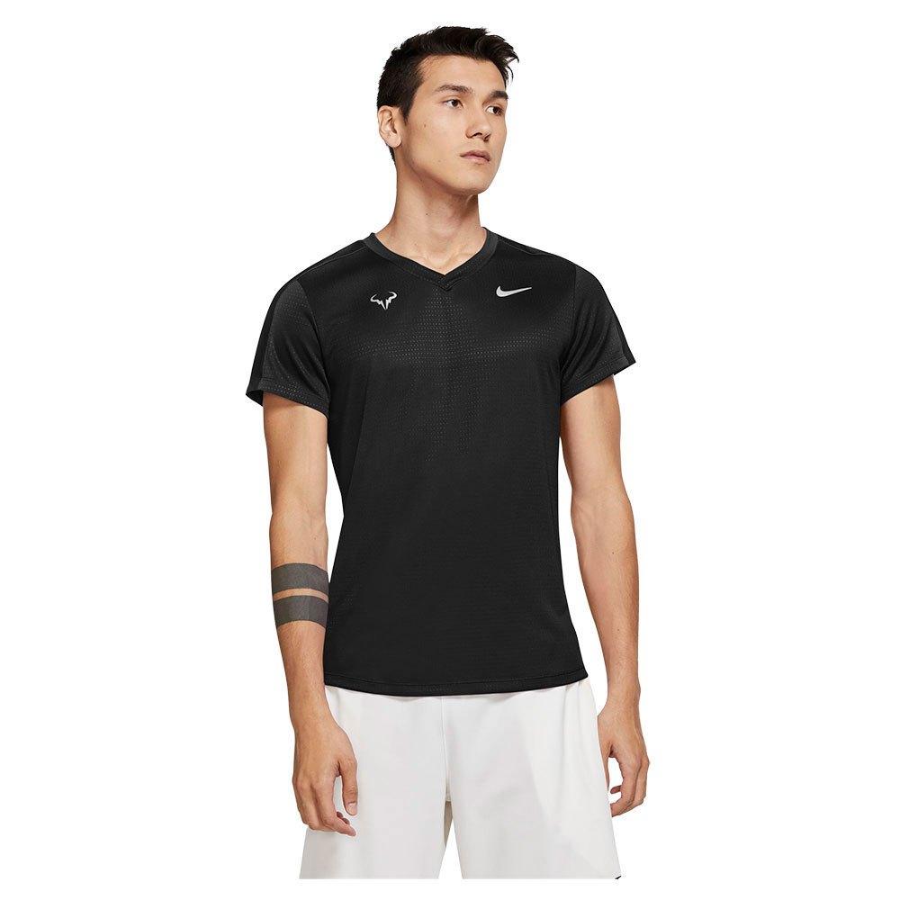 Nike T-shirt Manche Courte Court Rafa Challenger S Black / White