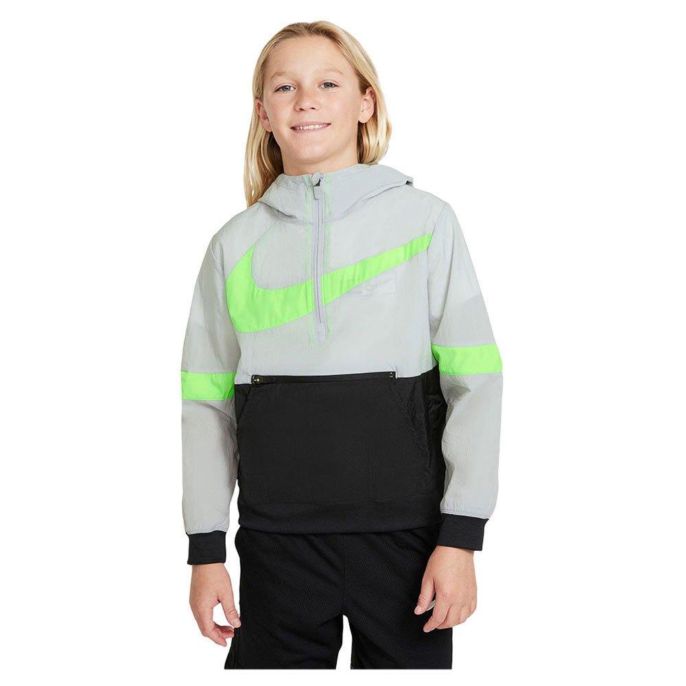 Nike Veste Crossover S Lt Smoke Grey / Black / Green Strike