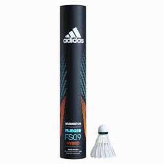 Adidas Badminton Volants Badminton Flieger Fs09 Hybrid 77 12 Units White