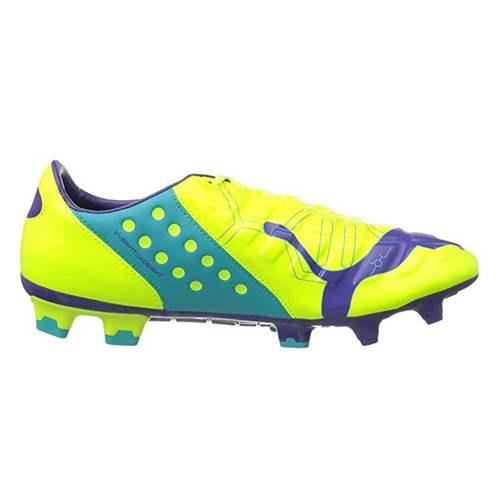 Puma Evo Power 2 Fg Football Shoes EU 44 Blue,Yellow,Violet