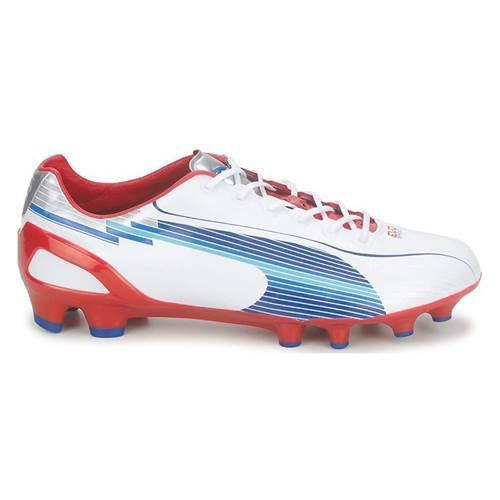 Puma Evo Speed 1 Fg Football Shoes EU 44 1/2 White,Red,Light blue