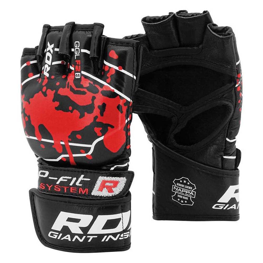 Rdx Sports Gants Combat Gants De Grappling Blood Double Strap S Red