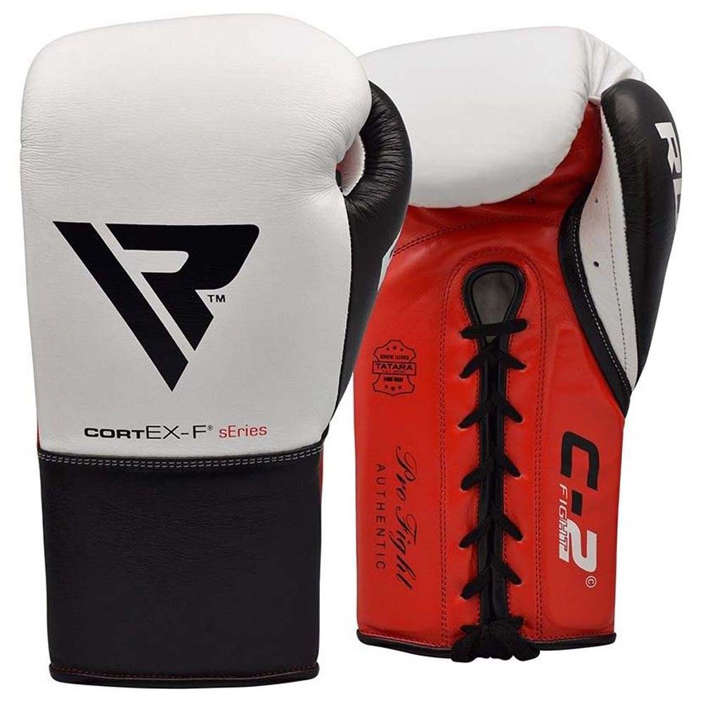Rdx Sports Gants Boxe C2 Fight Lace Up Leather 10 Oz Red