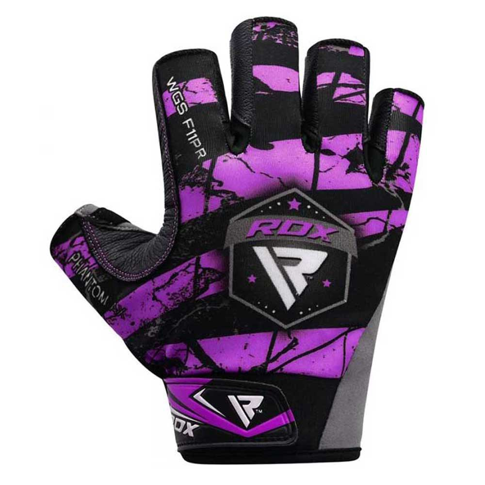 Rdx Sports Gants Courts F21 For Powerlifting With Long Wrist Support Strap S Purple