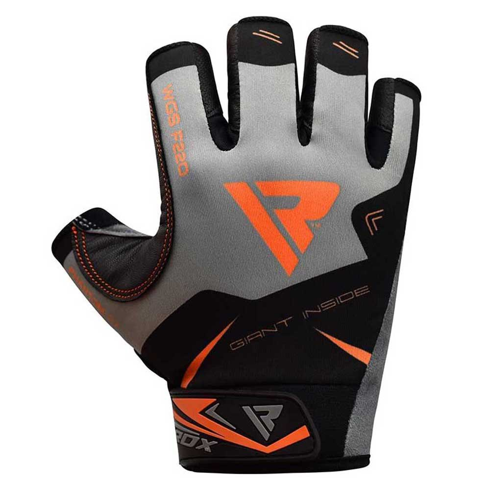 Rdx Sports Gants Courts F22 Half Finger Solid Grip S Orange
