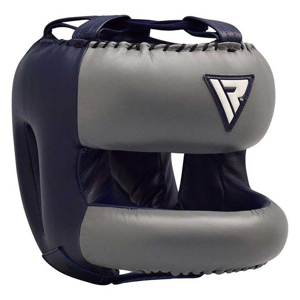 Rdx Sports Protége-tête Avec Barre Leather Pro 2 L Blue