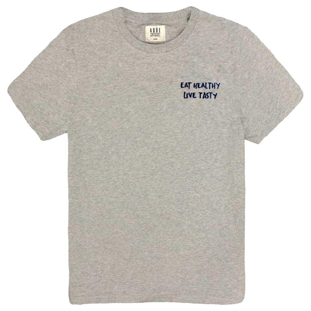 AqÜe Apparel T-shirt Manche Courte Live Tasty S Oxford Grey