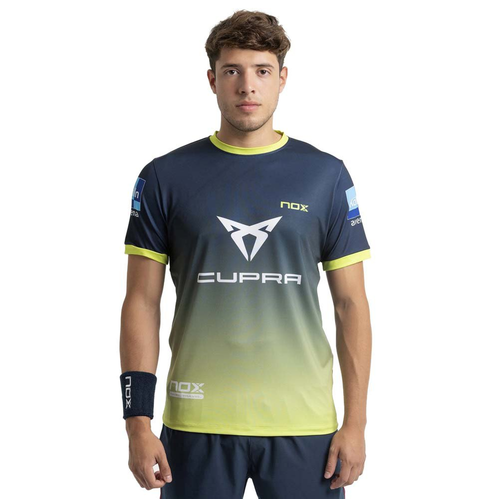 Nox T-shirt Manche Courte At10 Team 21 XS Blue / Degraded Lime