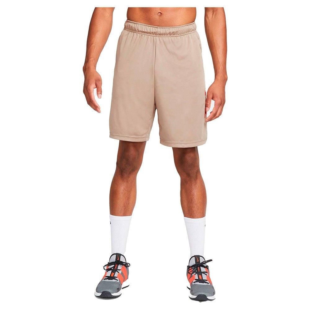 Nike Pantalons Courts Dri Fit Sport Clash Knit Training S Khaki / Total Orange