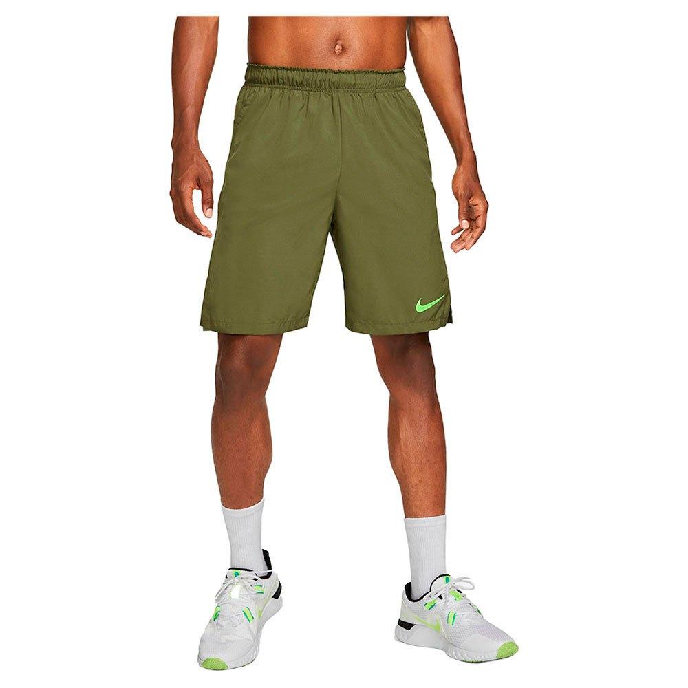 Nike Pantalons Courts Flex Woven L Rough Green / Green Strike