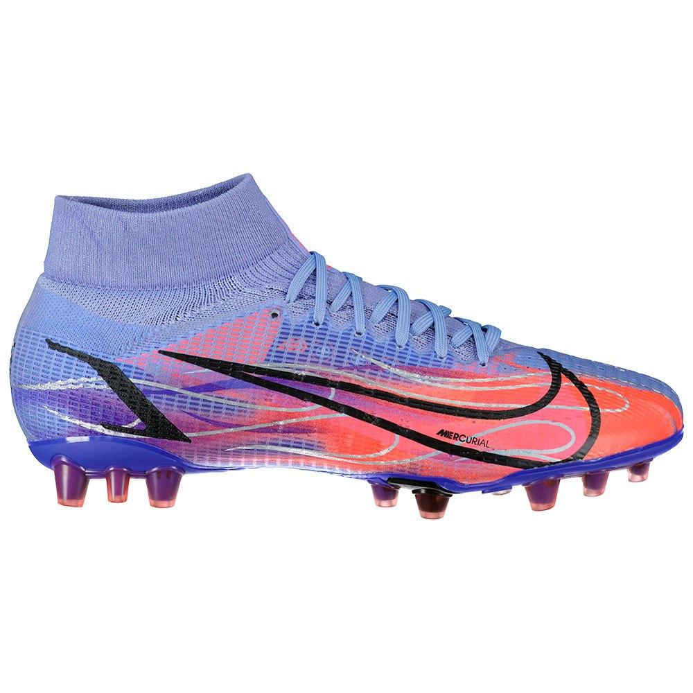 Nike Chaussures Football Mercurial Superfly Viii Pro Km Ag EU 45 Light Thistle / Metallic Silver