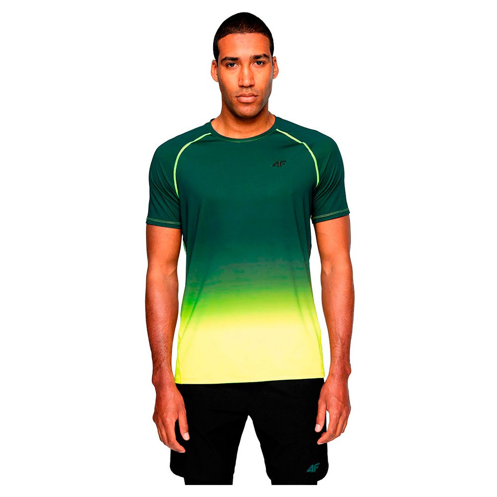 4f T-shirt Manche Courte M Canary Green Neon
