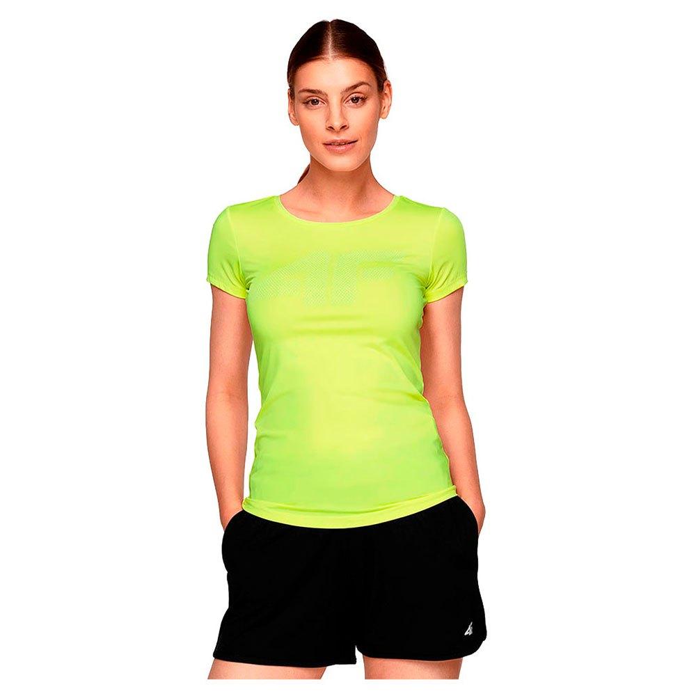 4f T-shirt Manche Courte XS Canary Green Neon