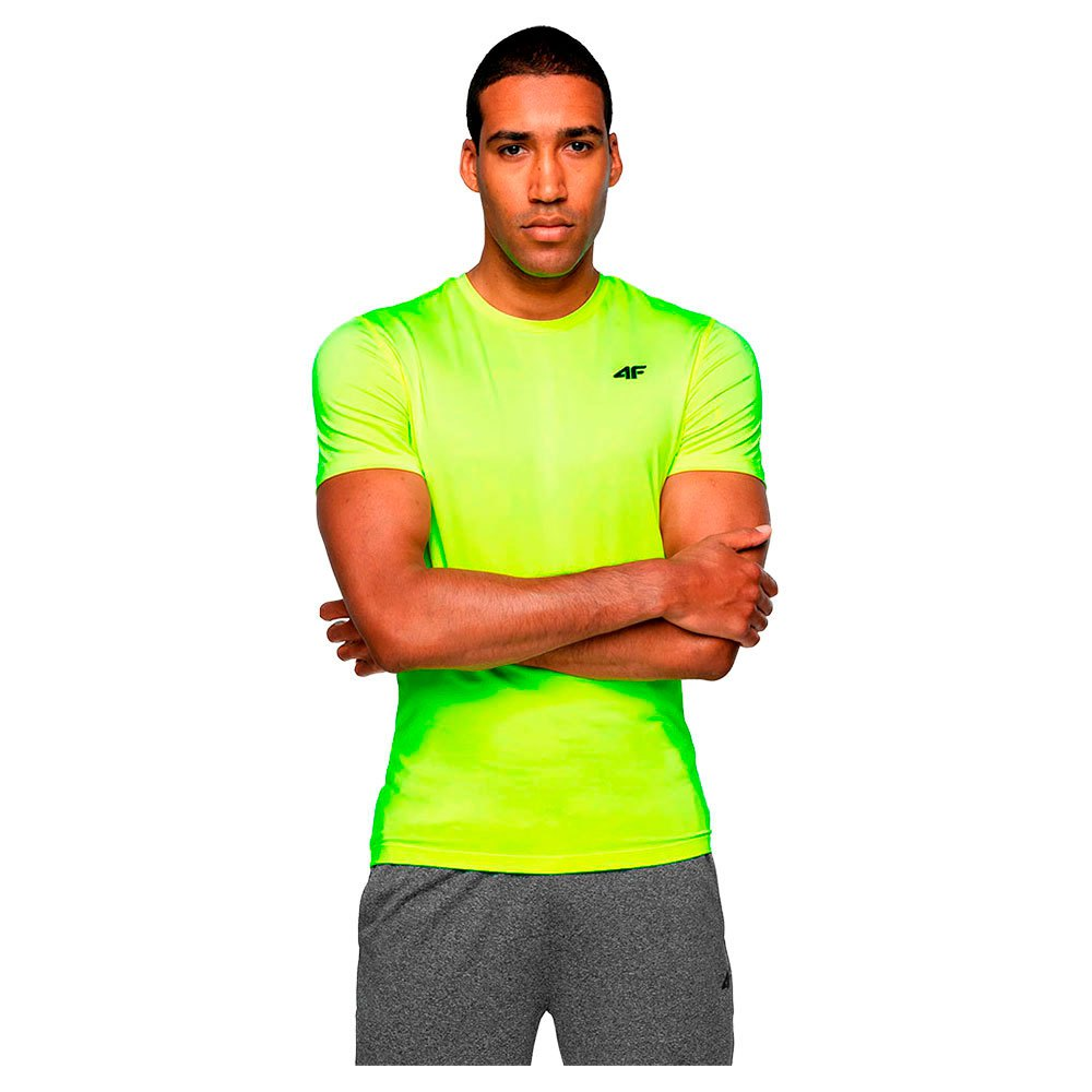 4f T-shirt Manche Courte S Canary Green Neon