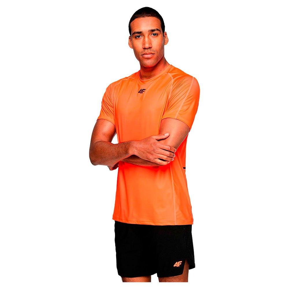 4f T-shirt Manche Courte S Red Neon
