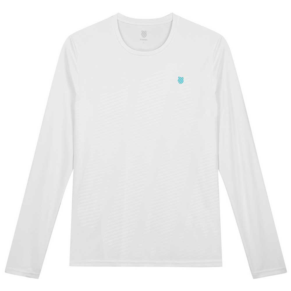 K-swiss T-shirt Manche Longue Hypercourt L White