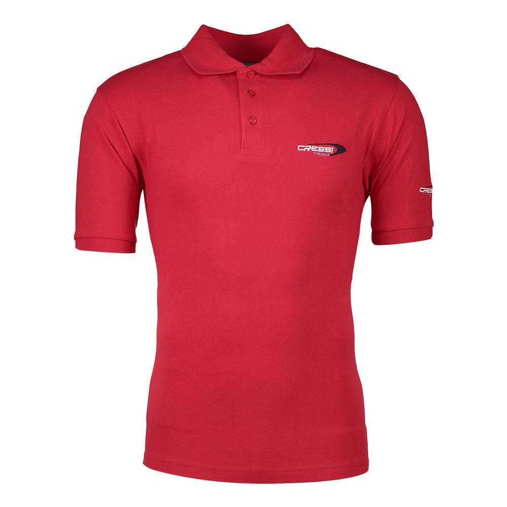 Cressi-Polo-Team-Rosso-Polo-da-uomo-Cressi-immersione-Abbigliamento
