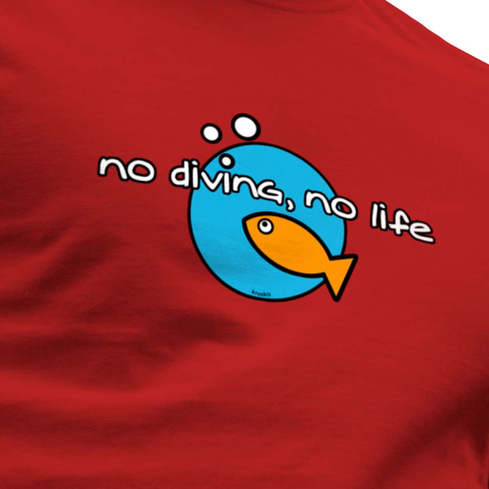 kruskis-no-diving-no-life-xxxl-red