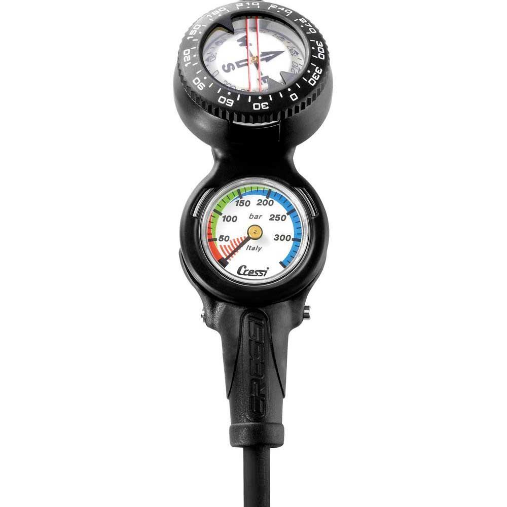 Cressi 2 Elemments Miniconsole Pressure Gauge/compass KONSOLEN 2 Elemments Miniconsole Pressure Gauge/compass