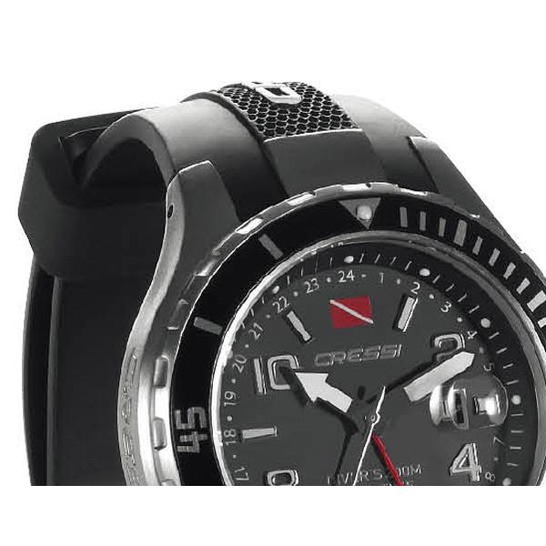 watches traveller dual time watch black